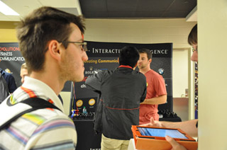 Students at the annual Computer Science Career Fair