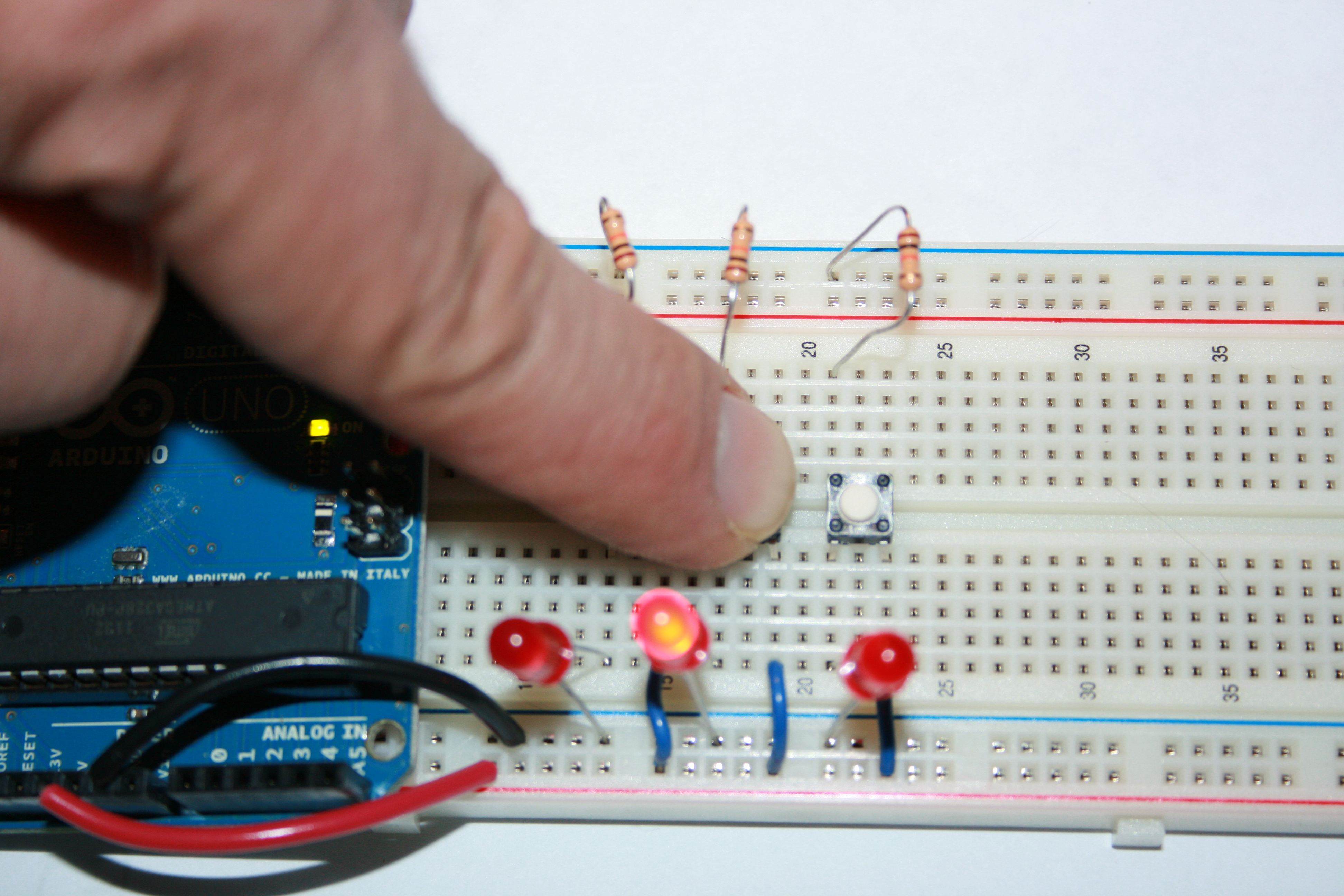And Gate Circuit On Breadboard