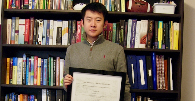 PhD Student Receives Best Dissertation Award